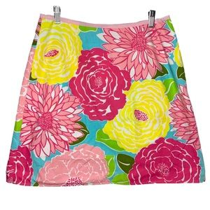 Lilly Pulitzer floral/patch reversible skirt 12